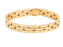 Cartier mailon panther3 row link bracelet