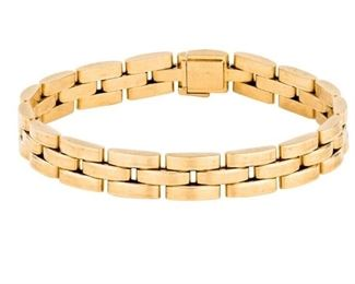Cartier mailon panther3 row link bracelet