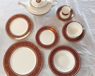 96 piece set service for 12 only 11 of the cake plate