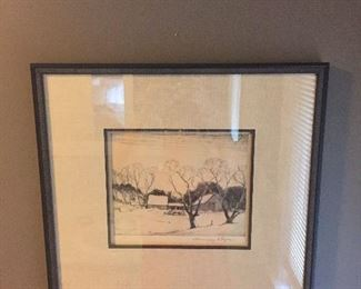 Chauncey Ryder- etching signed