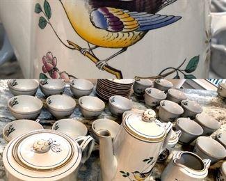 SPODE QUEEN S BIRD COFFEE & tea (39 pieces )