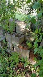 Approximately 60 concrete blocks