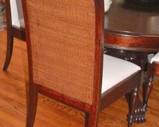 Oval Pedestal Dining Room Table & 6 Chairs
