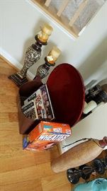 decor, lamps, games, baskets, collectable Wheaties