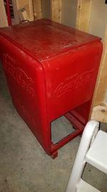 Antique Coca-Cola Cooler Circa 1940's/1950's
