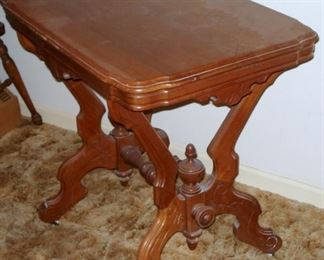 Victorian Walnut Table..Side View