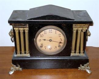 Antique Mantle Clock...Works!