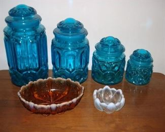 Moon Stars & Opalescent Glass