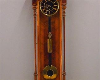30 day Vienna Regulator with Black glass dial and Rosewood case