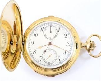 Swiss 18k Gold Quarter Hour Repeater/Chronograph