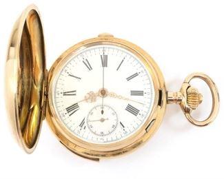 Louis Audemars 14k Gold Quarter Hour Repeater/Chronograph