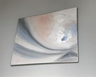 David - Large abstract original oil painting