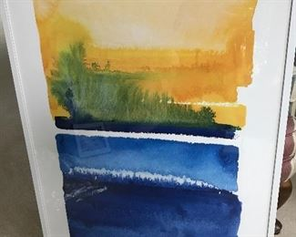 Large, modern watercolor