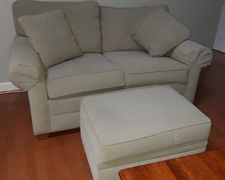 Ethan Allen Loveseat and Ottoman