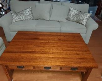 Ethan Allen Sofa - Mission Style Coffee Table