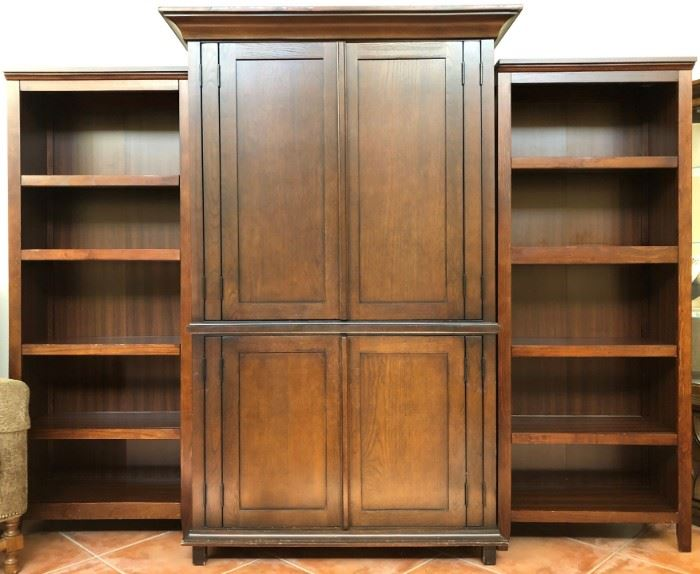 Entertainment Unit and 2 Bookcases (sold separately)