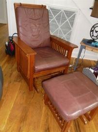 Platform rocker w/platform foot stool