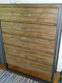 Matching barn wood chest of drawers w/5 drawers (2 yrs old)