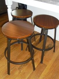 3 Bar stools wood w/metal legs 2 yrs old