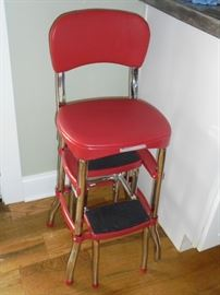 Red step stool
