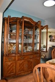 China Cabinet, Stemware, Glasses, Plates, Dishes, Serving Items