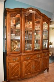 Stemware, Glassware China Cabinet with Light