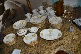 Vintage China, Pitcher, Dishes, Bowls, C & S