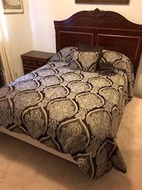 Queen Headboard, Full Mattress set