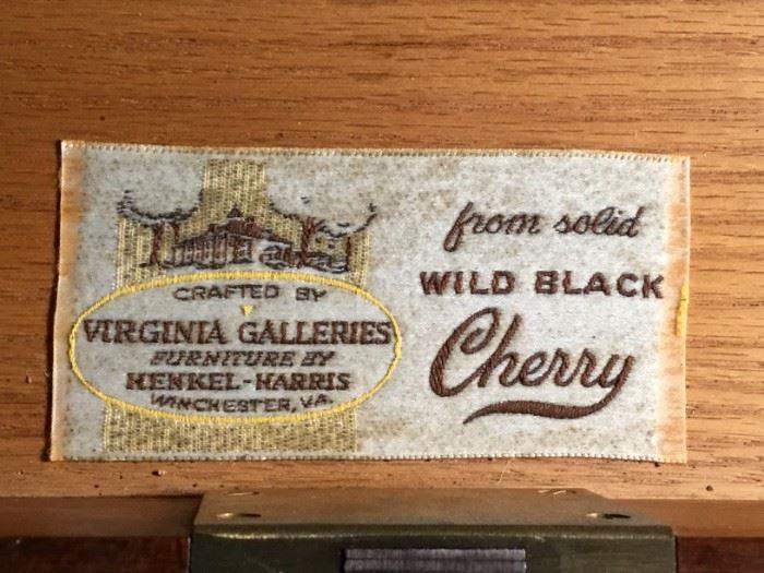 Henkel Harris Virginia Galleries Wild Black Cherry Desk Thomas Jefferson Monticello