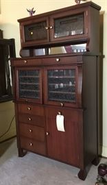 Antique Mahogany Medical Dentistry or Dental Cabinet. Cash and TN check accepted.
