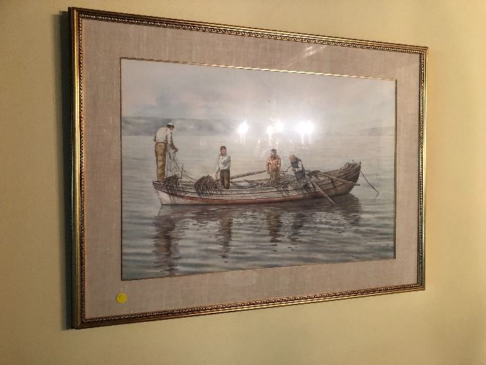 Large Original  Watercolor Gordon Wetmore used in his book Promised Land. IT IS AN ORIGINAL WATERCOLOR.  Cash and TN check accepted.