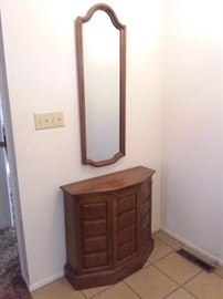 Entryway Cabinet with Matching Mirror