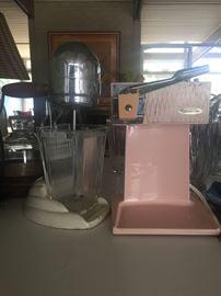 Antique retro mixer and Sunbeam electric can opener