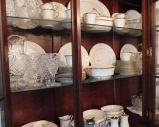 117 Pieces of American Fostoria!  Lenox Eternal China 15 Plate Settings