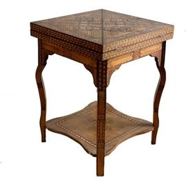 Lot 005  Antique Moroccan Gaming Table