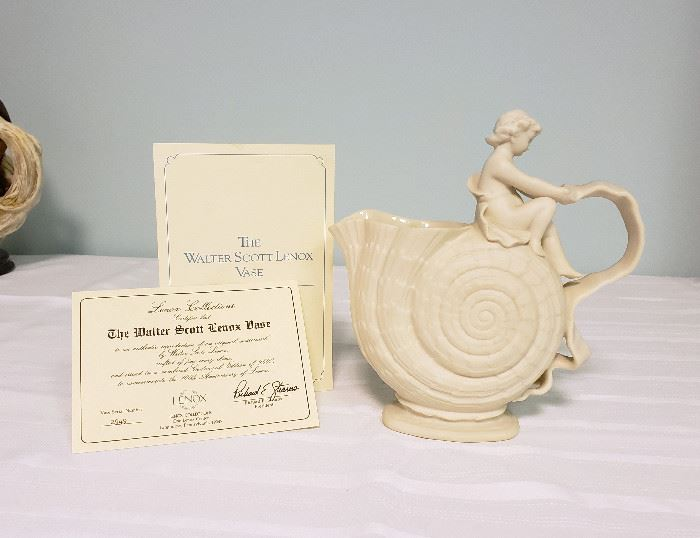 """Lenox  """"The Walter Scott Lenox Vase"""" with Certificate of Authenticty"""