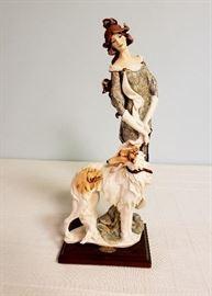 """Giuseppe Armani """"Lady with Greyhound (Borzoi)"""" #952"""