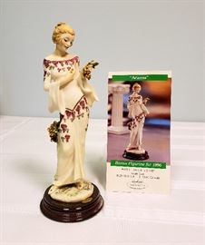 "Giuseppe Armani ""Arianna"" #400 - 1996 The Society Member's Figurine - includes original box"