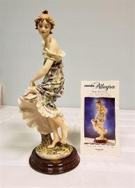 "Giuseppe Armani ""Allegra"" #345 - 1996 The Society Member's Figurine - includes original box"