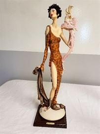 """Giuseppe Armani """"Lady with Parrot"""" #616 - Limited Edition 636/5000"""