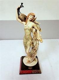 "Giuseppe Armani ""Lady with Peacock"" #876"