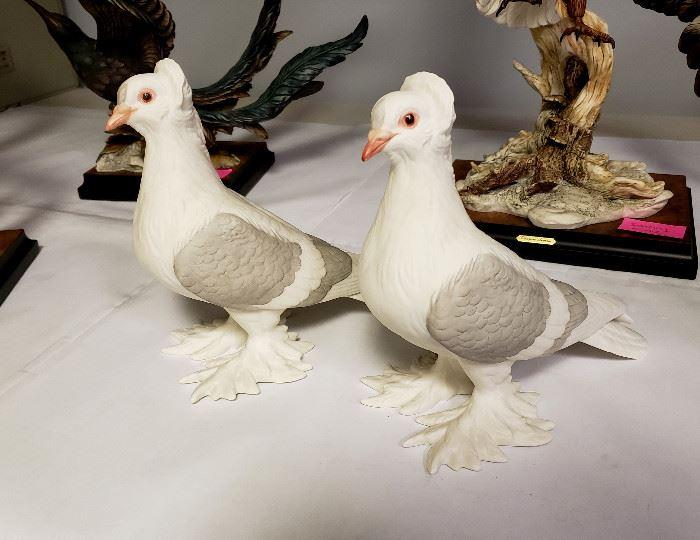 """Boehm porcelain """"Tumbler Pigeons"""" #416"""