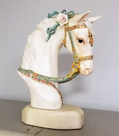 """Cybis """"Satin Decorated Horse's Head on base"""""""