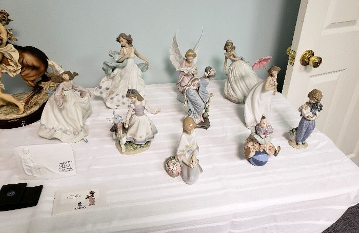 Lladro collection (see the bottom half of the photo gallery for indiviual photos of the figurines)