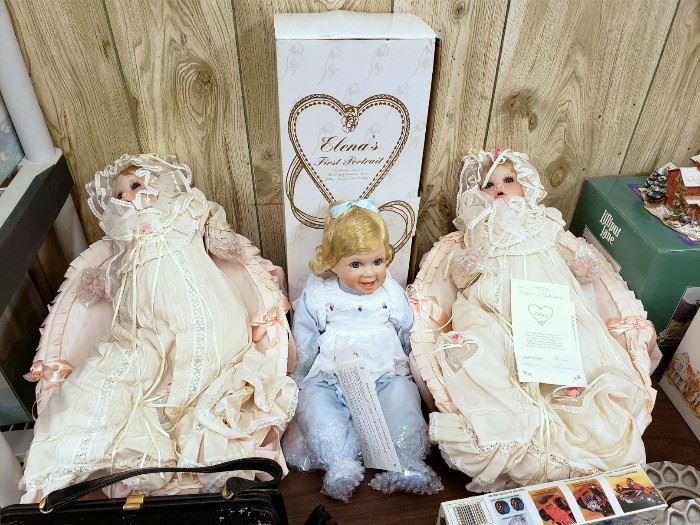 "Boehm porcelain ""Elena"" dolls"