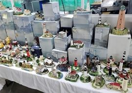 HUGE collection of Harbour Lights lighthouses - many still in the boxes!