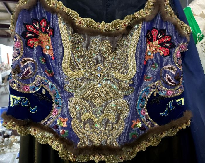 Stunning detail on the beaded / sequined top (front)