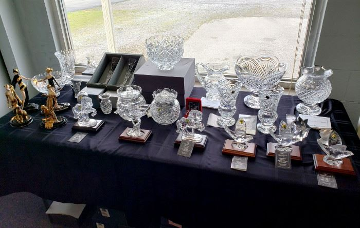Waterford Crystal, Erté figurines, Lalique, and more!