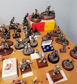 Chilmark / Hudson Creek limited edition Disney (mainly Mickey Mouse and friends) pewter figurines