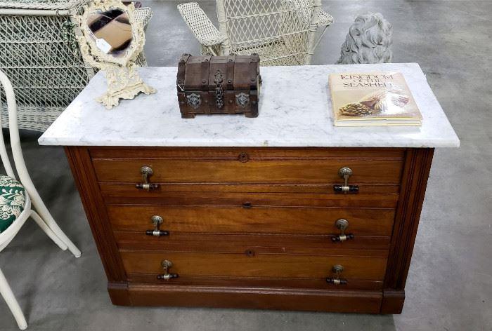 Antique marble-top dresser
